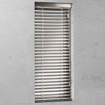 aluminium jaloezie op maat 50 mm gloss silvergloss open