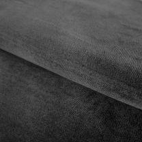Vouwgordijn op maat velours stofdetail antracietgrijs