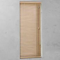 houten jaloezie op maat 25mm natural blank open