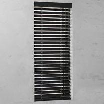 houten jaloezie op maat 50mm bamboe grafietzwart open