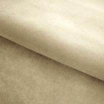 vouwgordijn op maat velours stofdetail beige