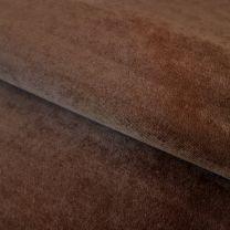 vouwgordijn op maat velours stofdetail chocoladebruin