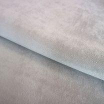 vouwgordijn op maat velours stofdetail lichtgrijs