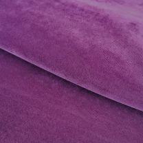 vouwgordijn op maat velours stofdetail pastelviolet
