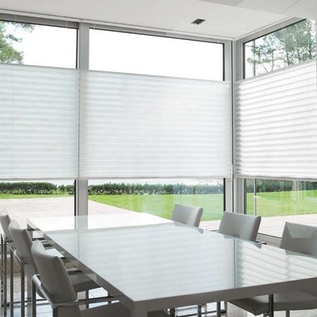 raamdecoratie ideeen plissegordijn