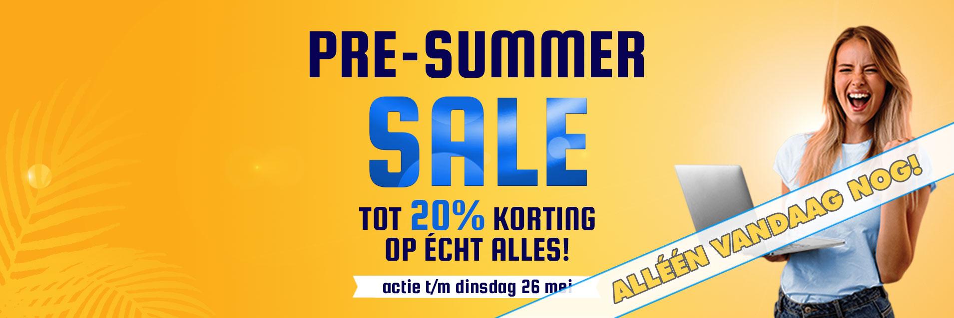 pre-summer sale tot 20% korting op écht alles