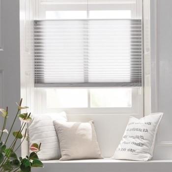 raamdecoratie zonder boren plissegordijnen