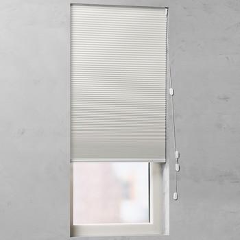 raamdecoratie zonder boren honingraat plissegordijn populair